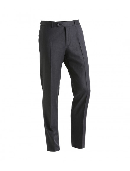 Gray travel trousers in...