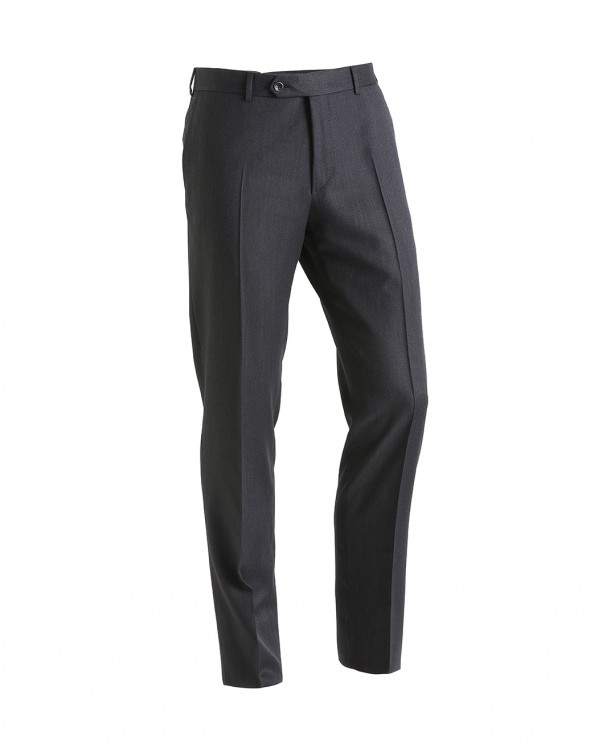 Gray travel trousers in Super 130s wool