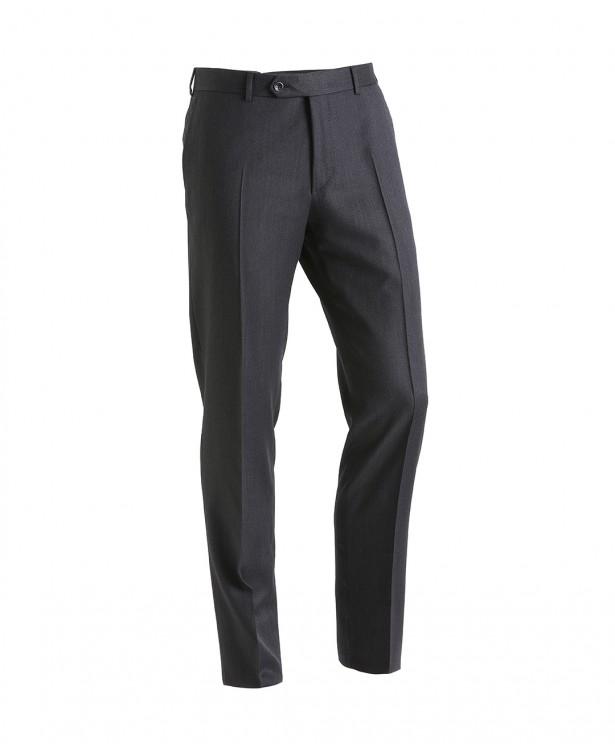 Pantaloni travel grigi in lana Super...