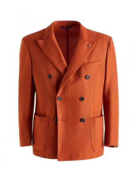 Giacca jersey arancione in...
