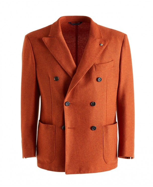 Cashmere orange jersey jacket |...