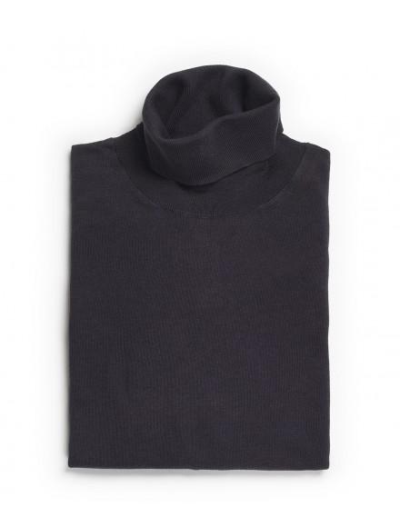Gray turtleneck sweater in...