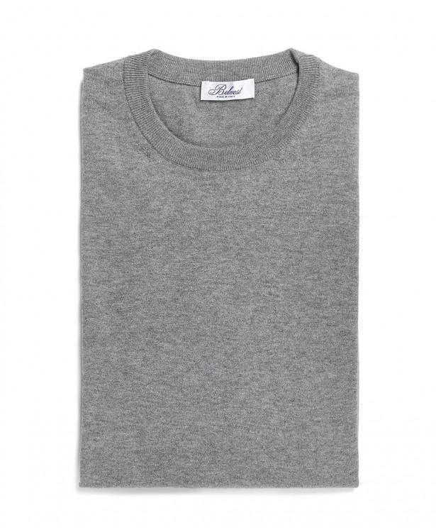 Light gray crew neck sweater in...