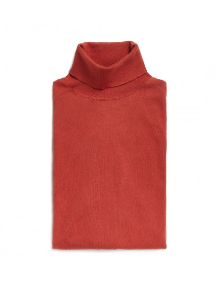 Turtleneck clay-colored...