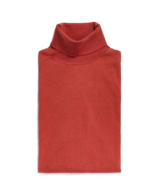 Turtleneck clay-colored sweater in...