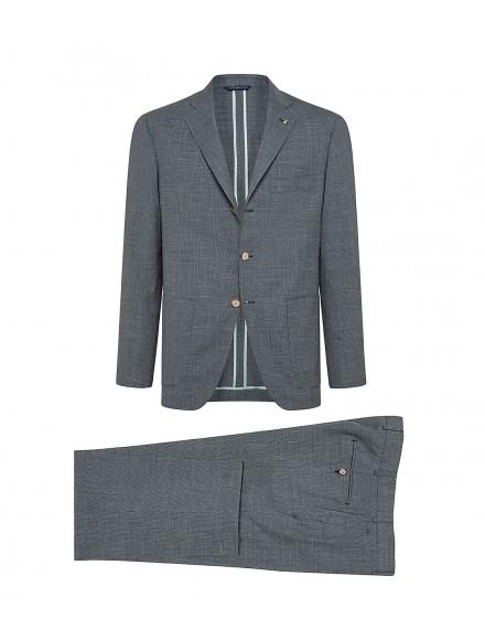 Green wool-blend tailored...