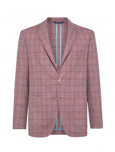 Antique rose wool tailored...