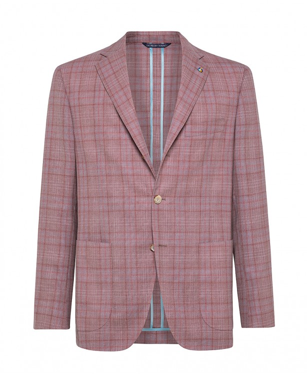 Antique rose wool tailored summer...