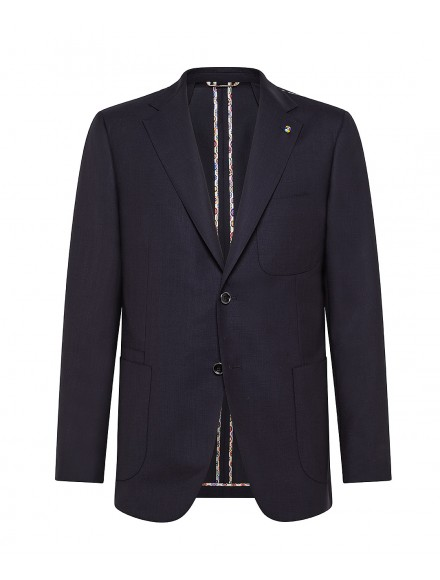 Navy blue wool tailored...