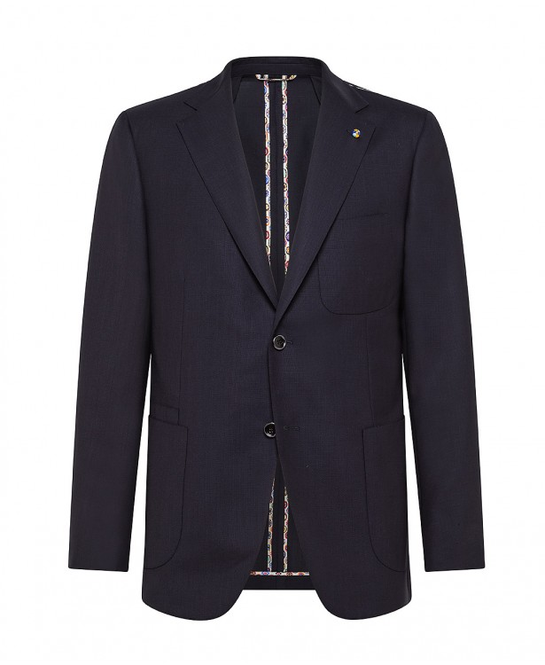 Giacca travel sartoriale blu navy in...