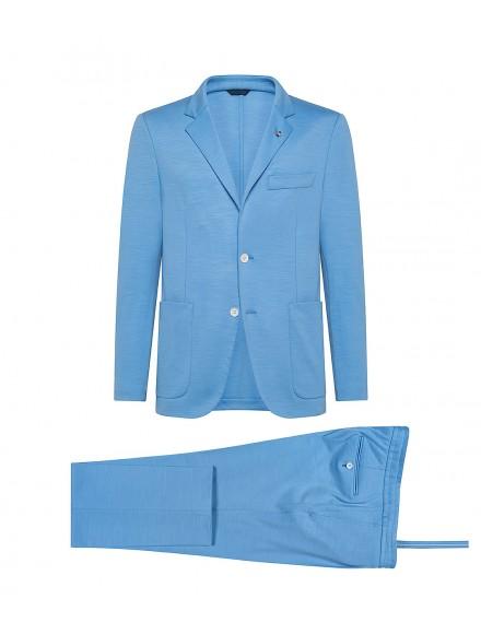 Light blue jersey wool...