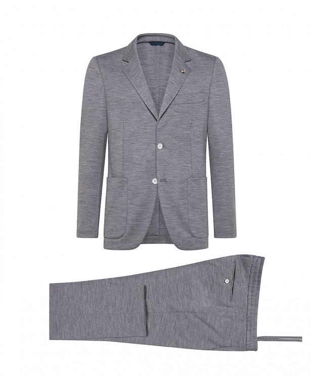 Grey jersey wool summer suit