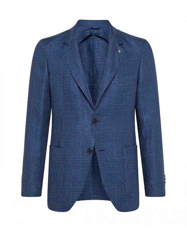 Blue linen tailored jacket