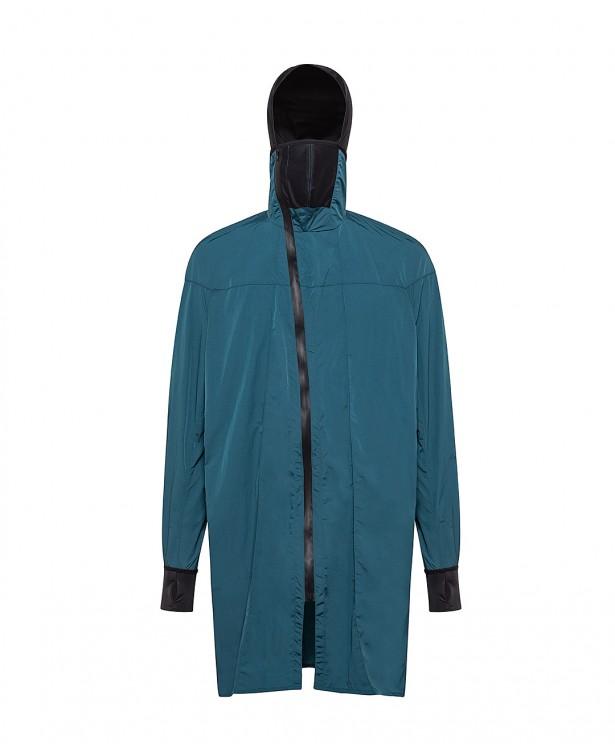 Petroleum green polyamide sports coat