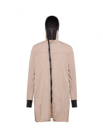 Beige polyamide tailored coat