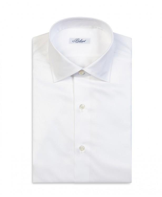 Camicia primaverile bianca in puro...