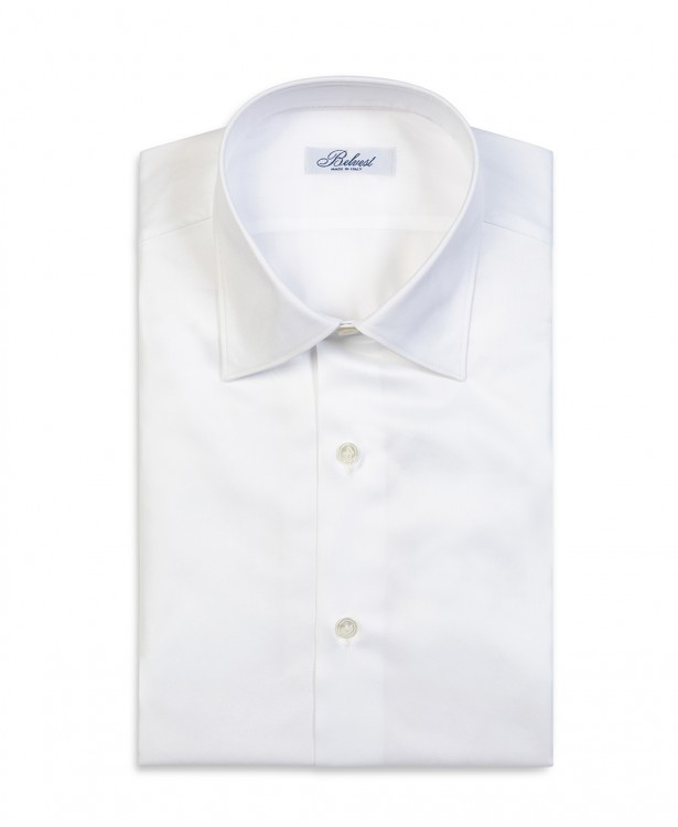 Camicia elegante bianca in puro cotone