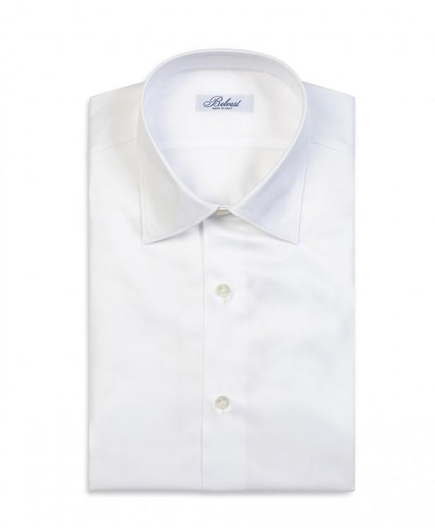 Elegant white pure cotton shirt