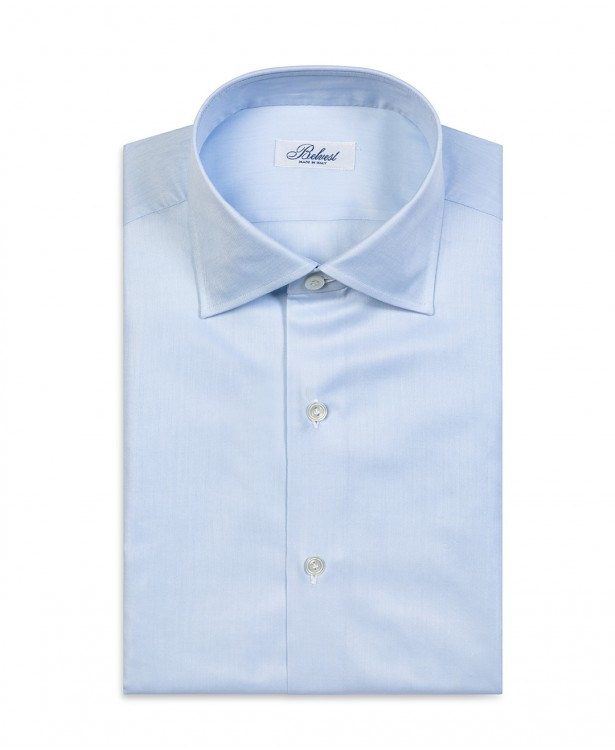 Camicia sartoriale azzurra in puro...