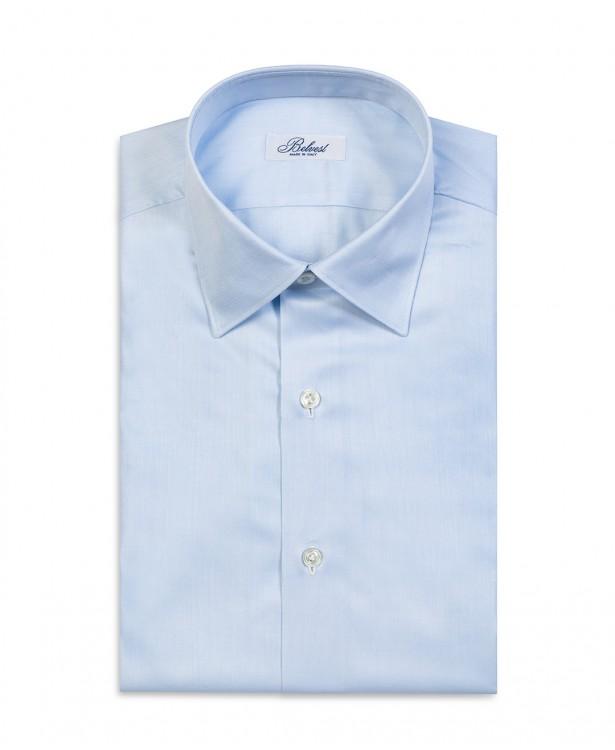 Camicia estiva azzurra in puro cotone