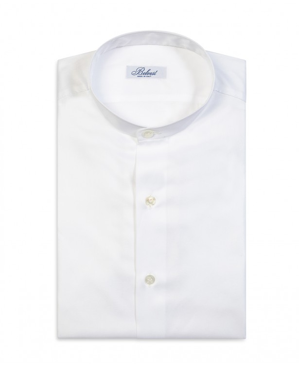 White pure cotton spring shirt with...