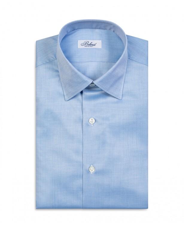 Camicia elegante azzurra in puro cotone