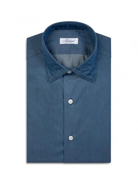 Camicia sartoriale blu in...