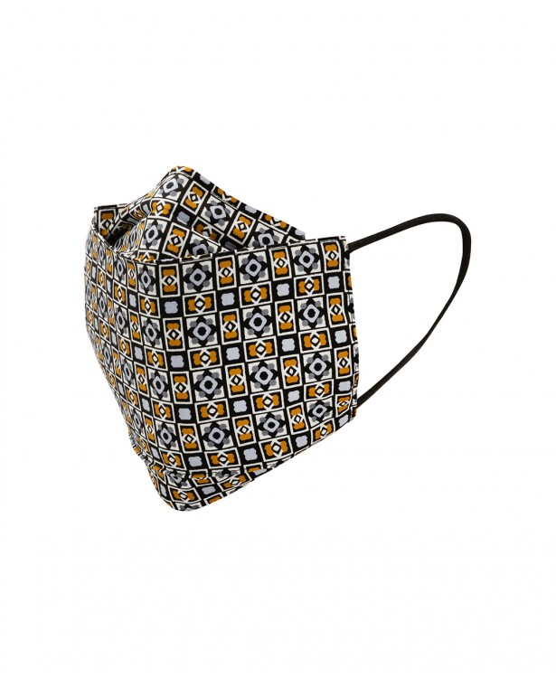 Washable patterned tailored mask with...