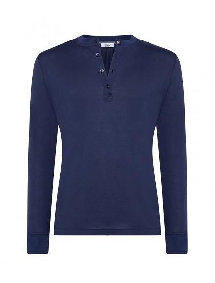 Blue cotton henley summer...