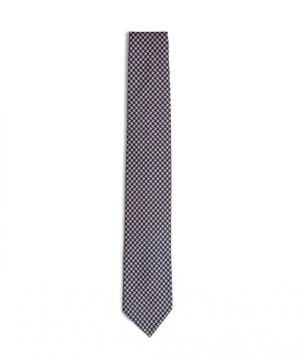 Cravatta elegante rosa e blu in cotone