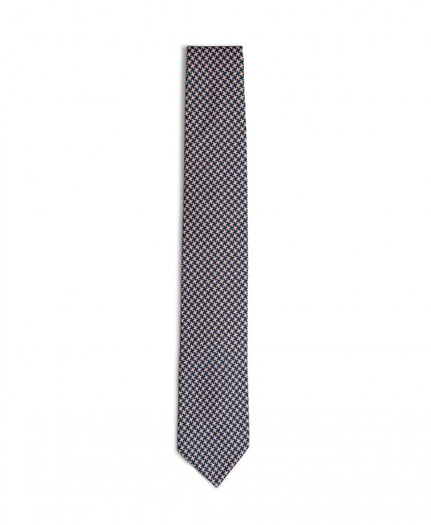 Elegant pink and blue cotton tie
