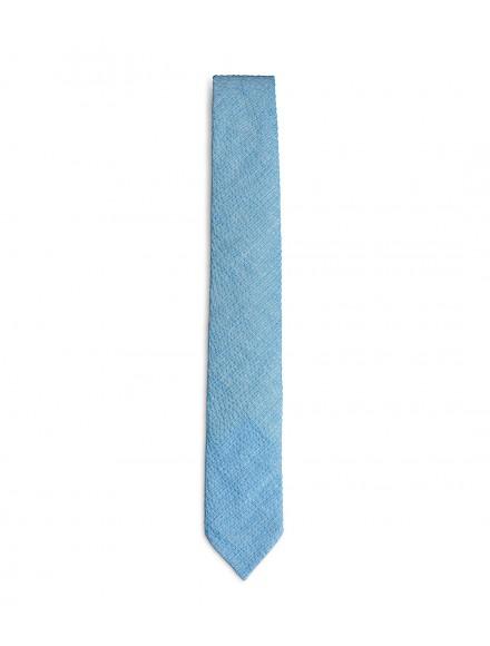 Light blue cotton spring tie