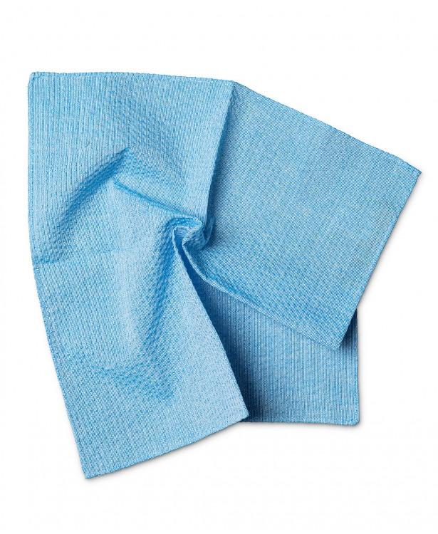 Pochette primaverile azzurra in cotone