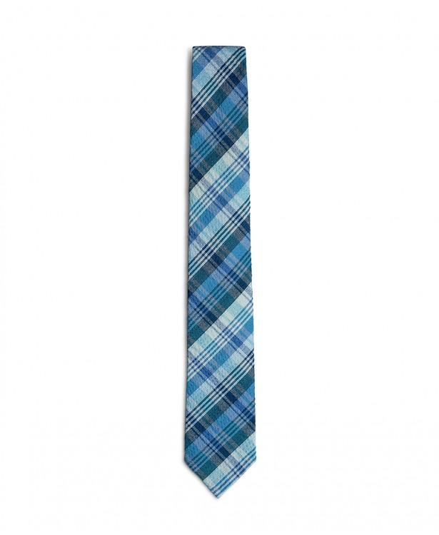 Cravatta primaverile azzurra e blu in...