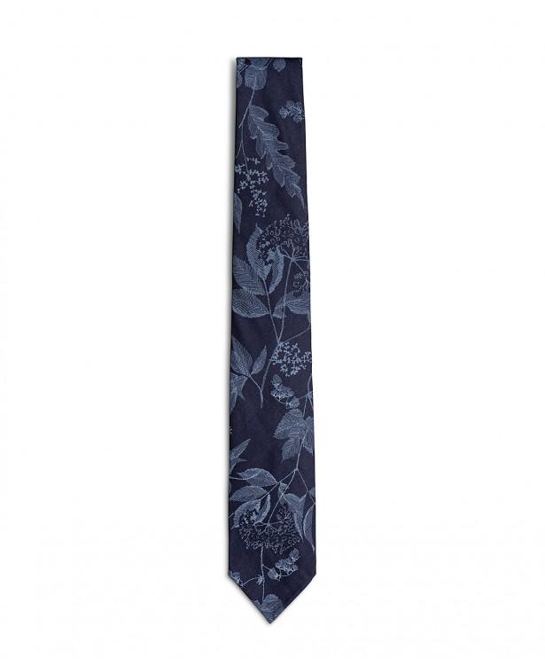 Cravatta estiva blu in cotone