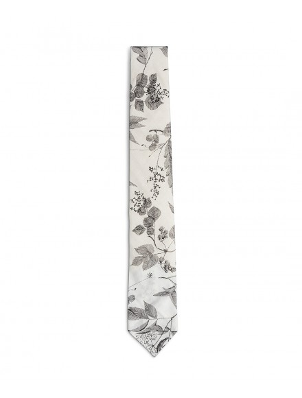 Cravatta estiva bianca e...