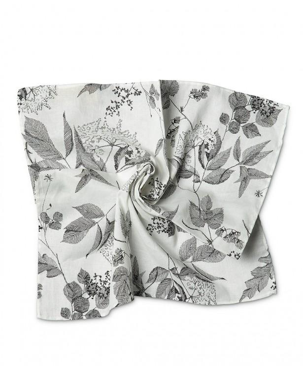 Pochette estiva bianca e nera in cotone