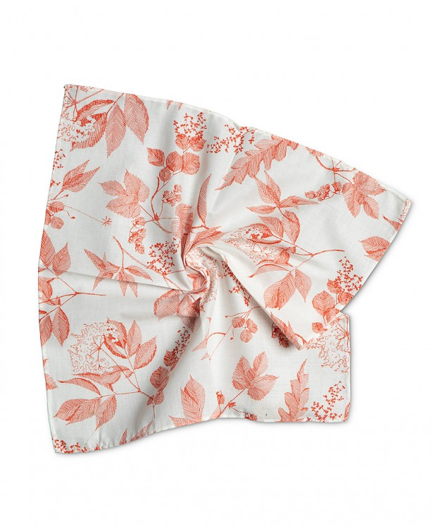 Red and white cotton summer pocket...