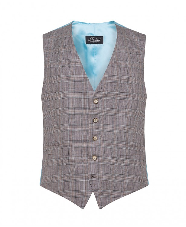 Brown wool and cashmere tailored vest