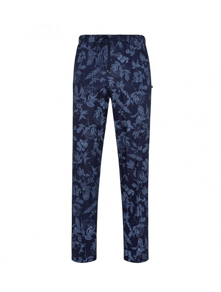 Blue cotton tailored trousers