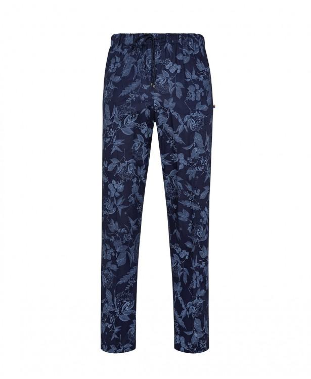 Pantaloni sartoriali blu in cotone