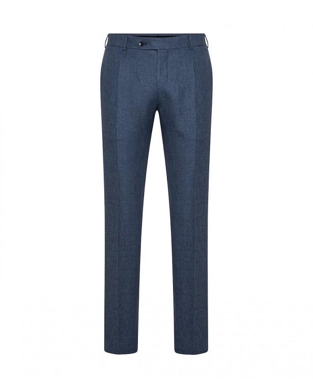 Pantaloni primaverili blu in misto lana