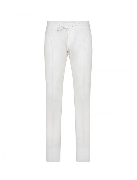 Pantaloni estivi bianchi in...