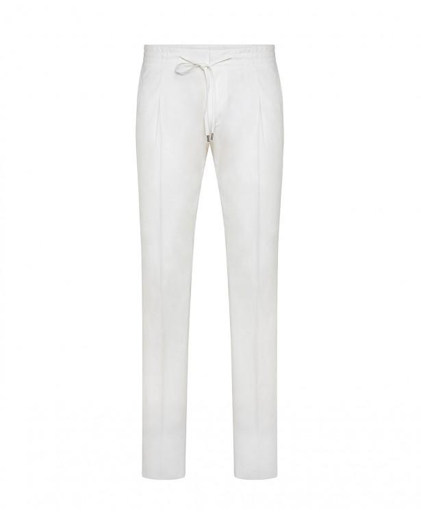 Pantaloni estivi bianchi in cotone