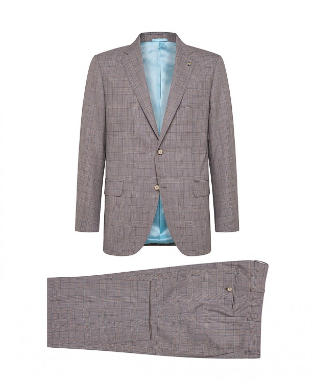 Brown wool and cashmere tailored suit
