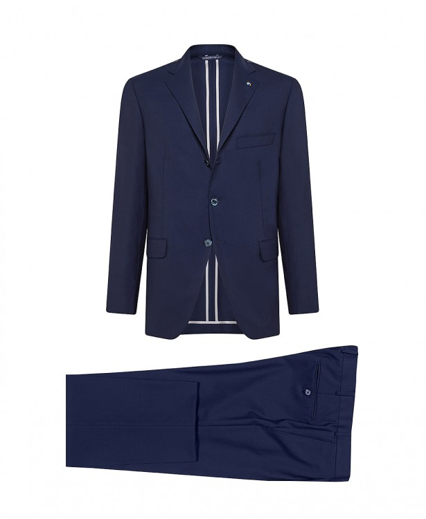Blue wool tailored suit   Jacketinthebox