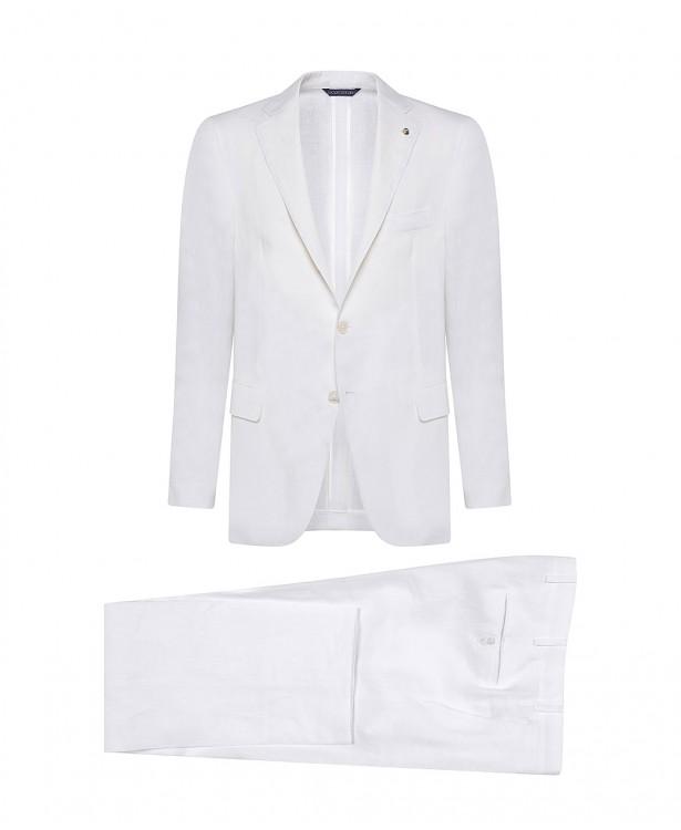White linen summer suit   Jacketinthebox