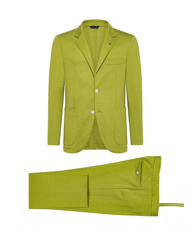 Abito sportivo jersey verde in lana