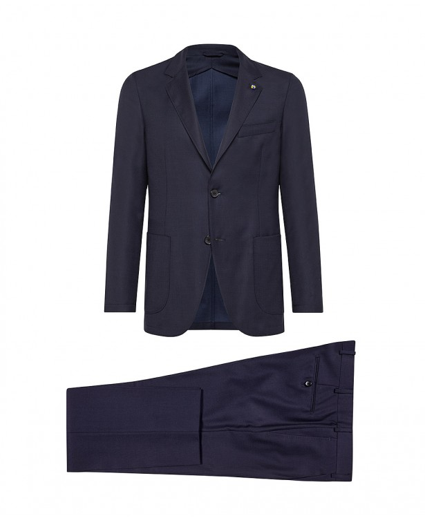 Navy blue Super 120s wool-blend...