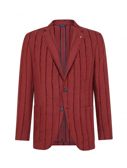 Red linen tailored jacket |...